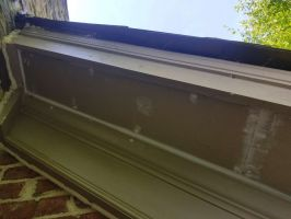 Repaired Eaves After Removing Bee Hive